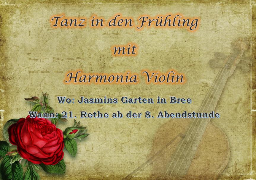 Mit Harmonia Violin in den Frühlingtanzen