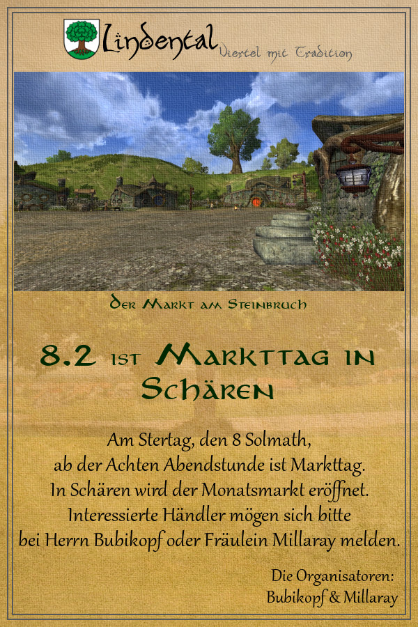 Hobbit-Markt in Schären am 8. Solmath