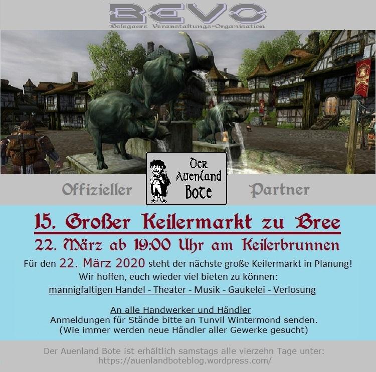 15. Großer Keilermarkt zu Bree sucht Händlerinnen undHändler!