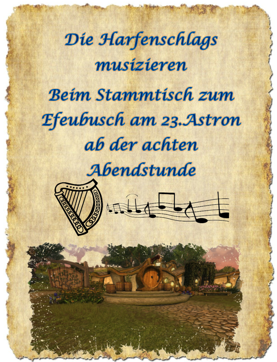 Konzert der Harfenschlags am 23. Astron imEfeubusch