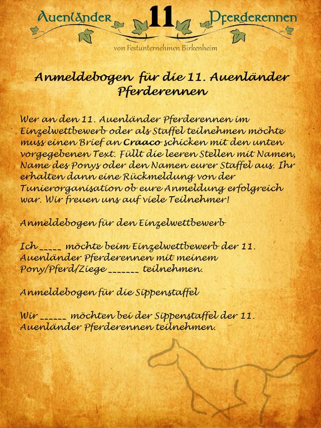 11. Auenländer Pferderennenangekündigt!