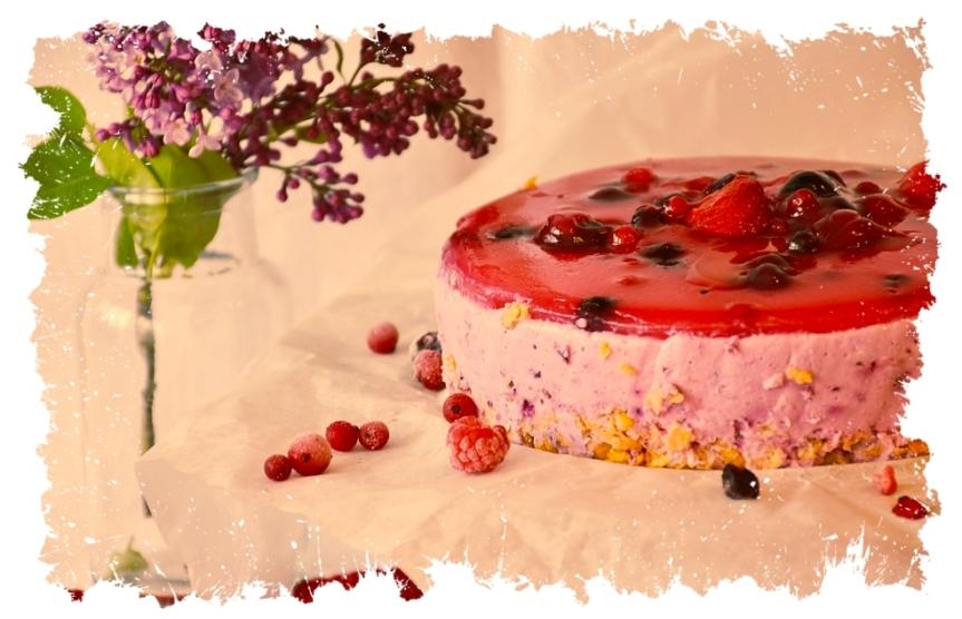 Beeren-Quark-Torte ohne Backofen