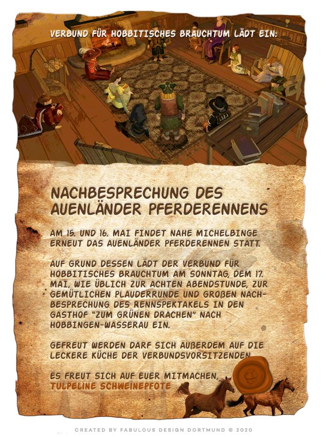Sonderveröffentlichung: Der Verbund für Hobbitsches Brauchtum lädtein
