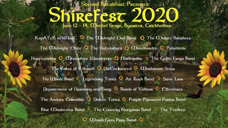 Shirefest auf der Methelbühne inCrickhollow