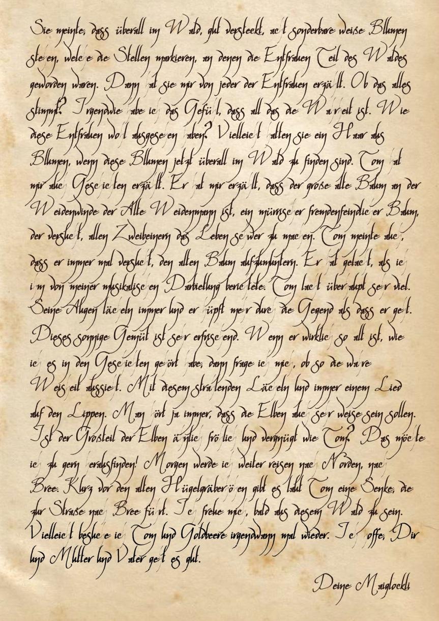 Briefe von Maiglockli Honighain an ihren Bruder Drubb(13)