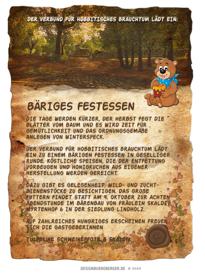 Bäriges Festessen