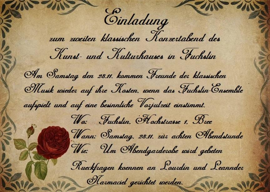Ein Konzertabend im Kulturhaus Fuchslin am28.Bothmath
